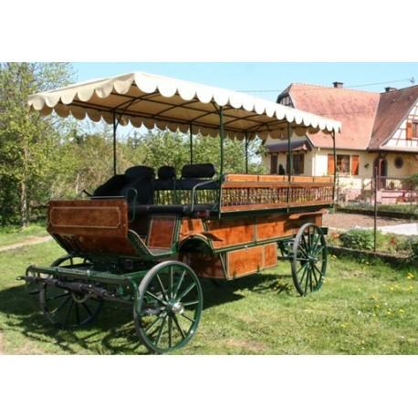 Chariot bâche wagonnette 12 à  16 places